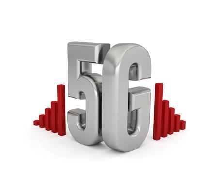 5G network technology wireless internet 3D Text Foto de archivo - 119668303