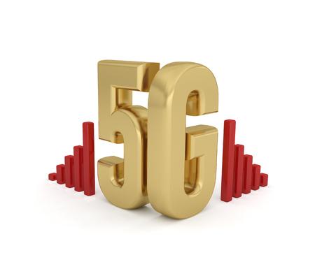 5G network technology wireless internet 3D Text Foto de archivo - 119668437