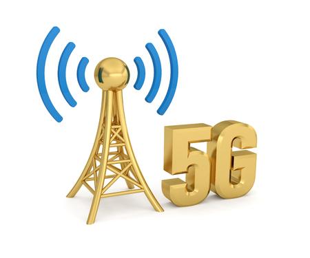 antenna network 5G wireless transmission Reklamní fotografie