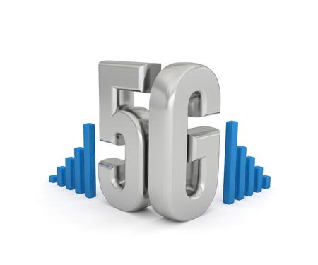 5G network technology internet wireless text Foto de archivo - 119668504
