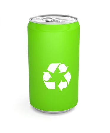 recyclable can of soda
