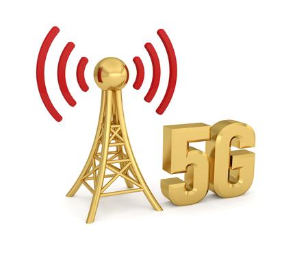 antenna network 5G wireless transmission Foto de archivo - 119668506