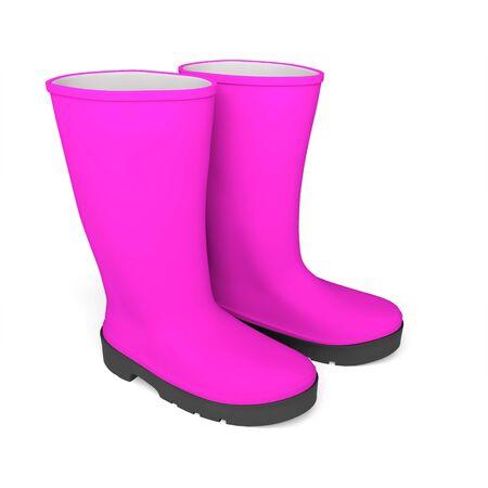 boots rainboots rainboots waterproof Stock Photo