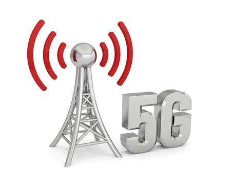 antenna network 5G wireless transmission Foto de archivo - 133168829