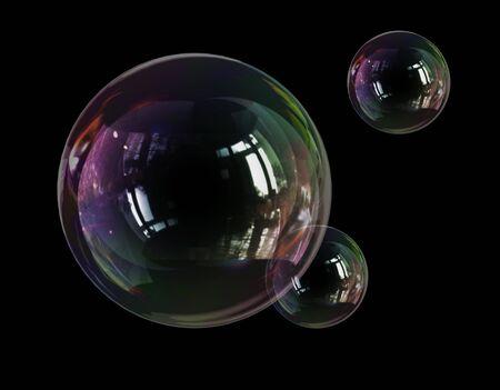 zeepbel lichtheid kwetsbaarheid Stockfoto