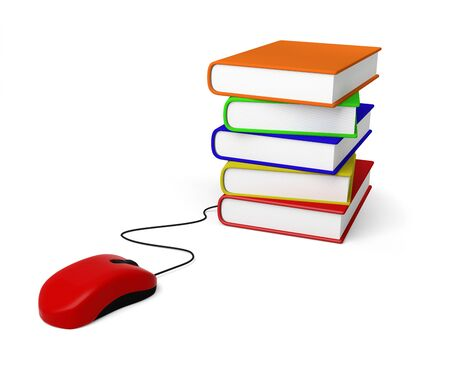mouse book education e-book e-learning shopping reading 3D