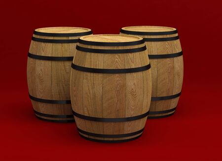 barrel alcohol wine old wood storage beer drink container 3D 스톡 콘텐츠