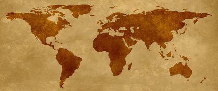 Old map of the world parchment background vintage Zdjęcie Seryjne