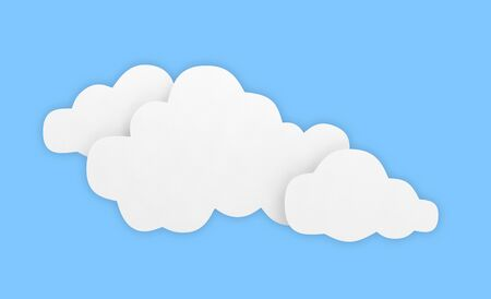 cloud background sky blue white empty 3D 스톡 콘텐츠