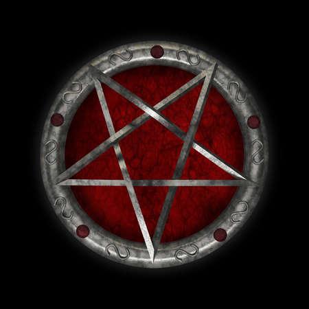 pentacle symbol star magic pentagram mystic religion occult 3D