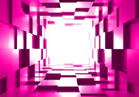 tunnel cube box background light 3D Stok Fotoğraf