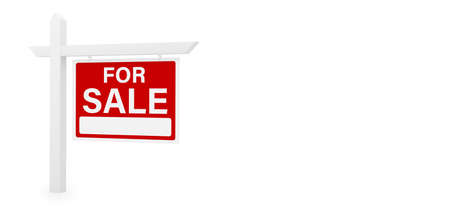for sale house home real estate sign 3D