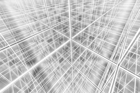 tesseract background abstract network cyber web 3D
