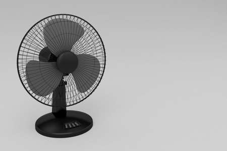 electric fan blown cold wind 3D illustration