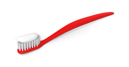toothbrush toothpaste care hygiene brush dental clean 3D