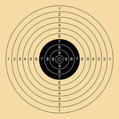 target shooting shooter air gun compressed air rifle Foto de archivo