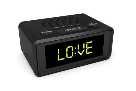 clock alarm radio wake love 3D