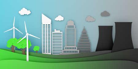 City energy wind turbine nuclear ecology pollution