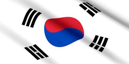 flag of South Korea 3D