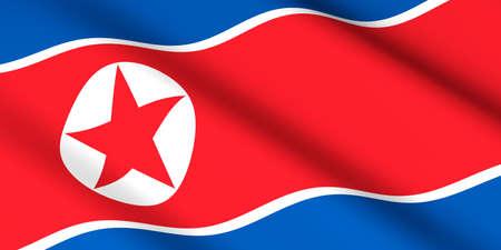flag of North Korea 3D