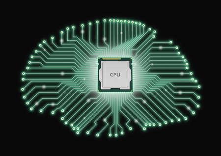AI artificial intelligence CPU brain printed circuit board microprocessor
