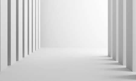 interior architecture column minimalistic 3D