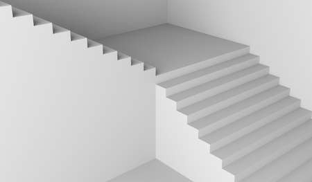 staircase white stair stairway architecture minimalism 3D