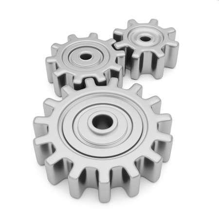 gears mechanism gear teamwork cooperation 3D
