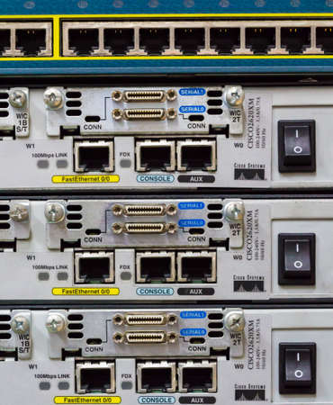 tcp: Active network equipment  Router  Equipment  Stock Photo