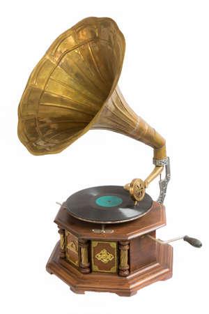 Isolatie Oude fonograaf disc Stockfoto