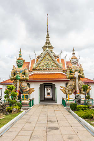 Front of Arun temple in Bangkok of Thailand. photo