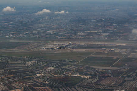 suvarnabhumi: Airport overview ,suvarnabhumi airport Stock Photo