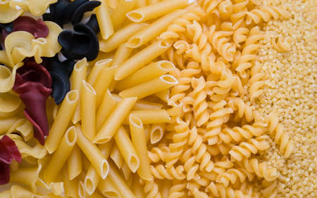macaroni: Various macaroni of a product Stock Photo