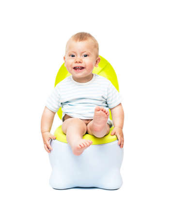The boy on a chamber-pot  photo