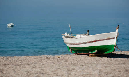 shallop: Fishing boat on the water
