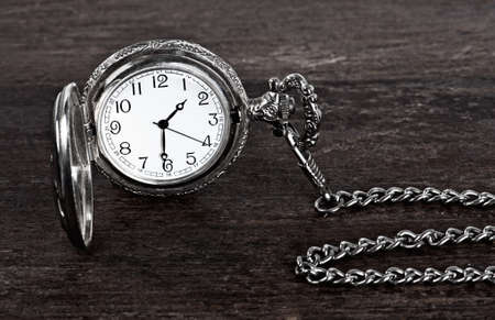 old watch: Old watch and chain