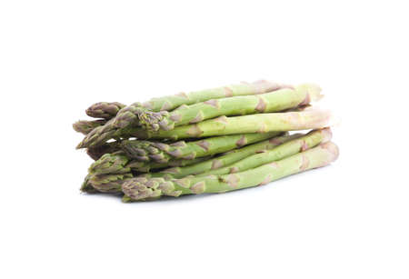 green asparagus isolated on white background photo