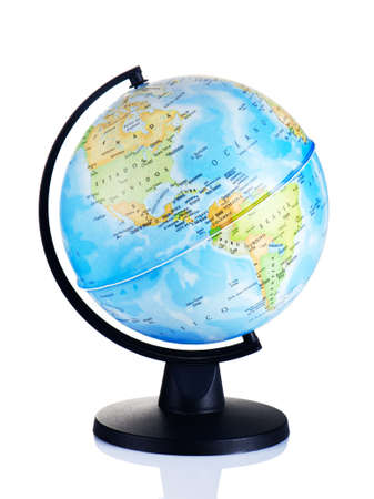 globe  the terrestrial ball: Globe isolated on white background