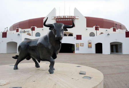 Spain  Almeria  The picture was taken at the entrance area of   the bulls  From monuments bull  Stock Photo - 12878213