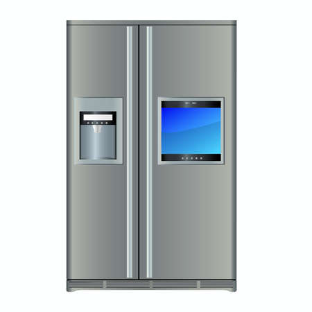 Modern refrigerators with built-in TV