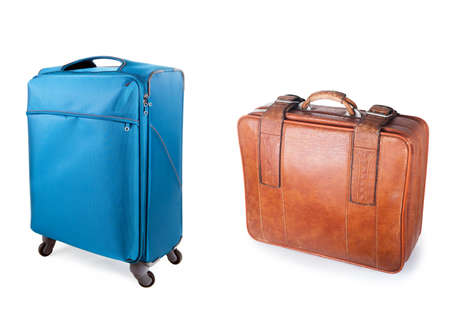 two suitcases, modern and old Stock Photo - 13230088