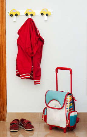 school backpack: Items for schoolboy