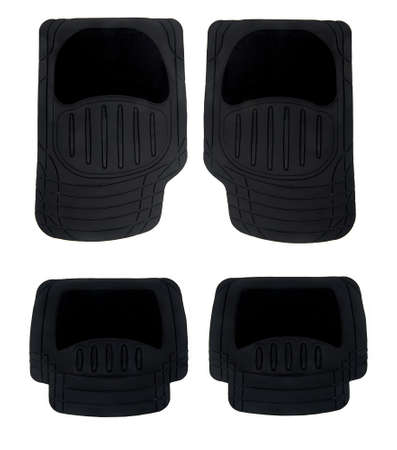 rubber floor mats for cars isolated on white background