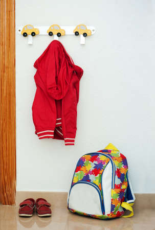 Children's backpack, shoe and jacket