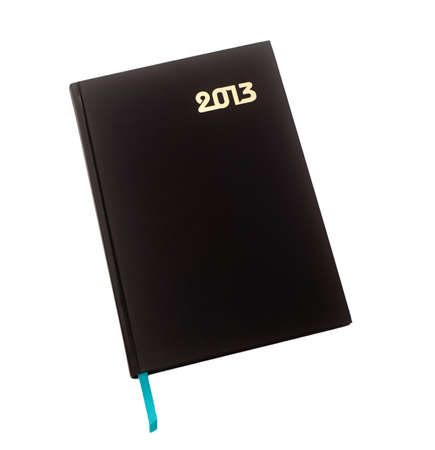 New diary for 2013 on a white background isolated photo