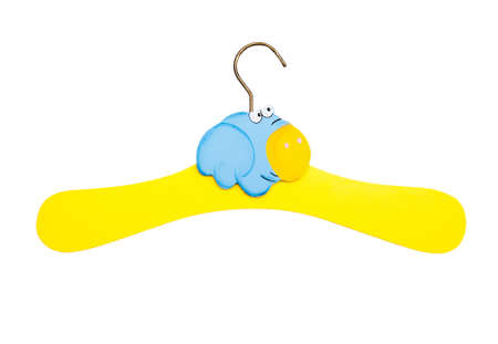 Children s hanger isolated on a white background