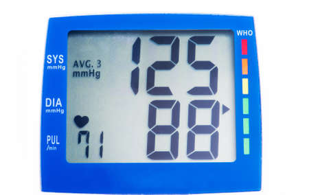 Digital device for measuring blood pressure photo