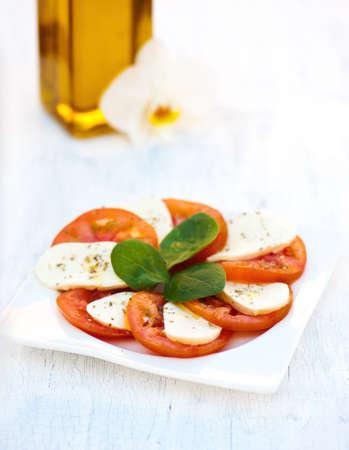 Italian salad with tomatoes and mozzarella Stock Photo - 20351721