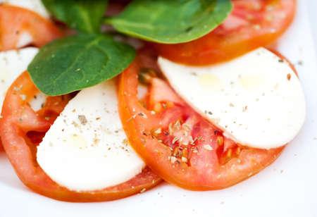 Italian salad with tomatoes and mozzarella Stock Photo - 20351724