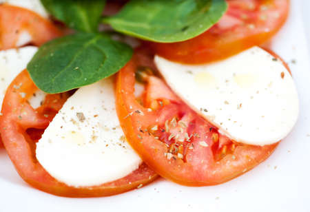 Italian salad with tomatoes and mozzarella Stock Photo - 20351724